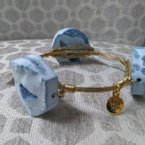 Jewelry - Bourbon and Bowties baby blue and gold bangle